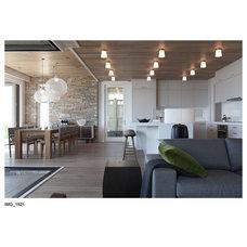 Contemporary Kitchen by Barnett Construction Ltd.
