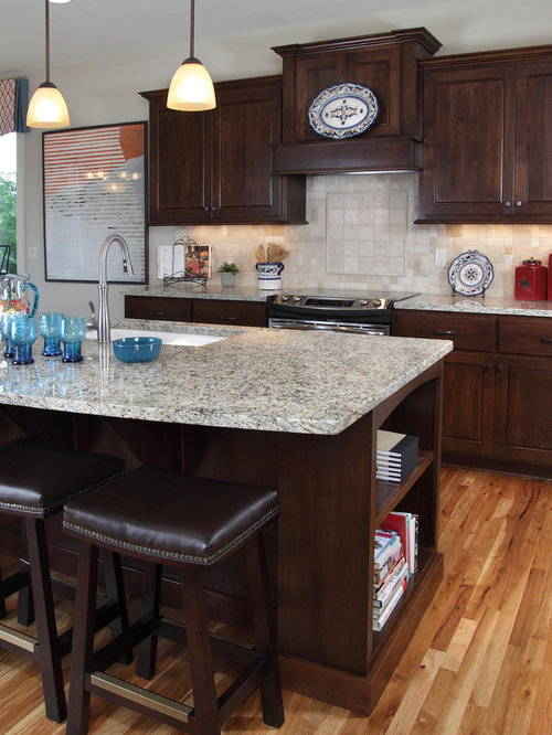 Houzz Galley Kitchen  Pantry Cabinets And Island