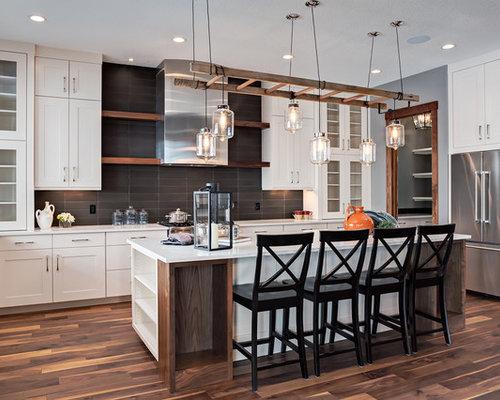 Küche Mit Holzboden : Offene Küchen mit gebeiztem Holzboden Ideen ...
