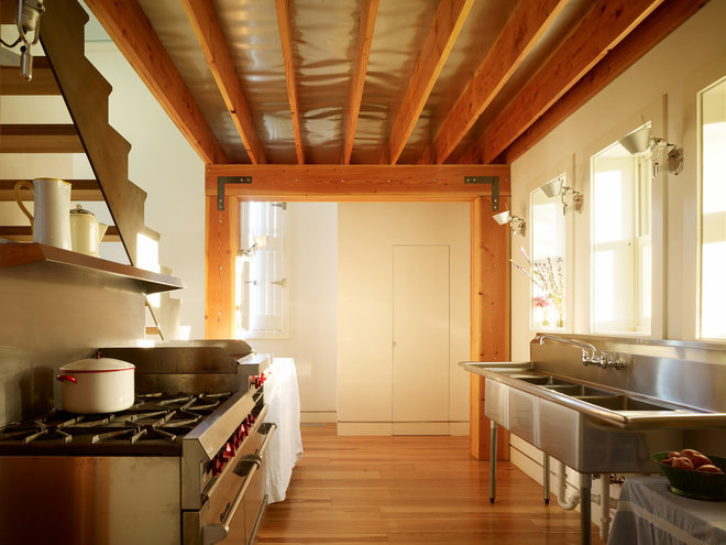 Industrial Kitchen by Melander Architects, Inc.