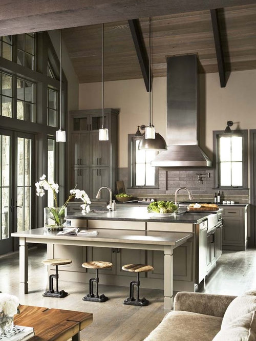 Houzz | Rustic Open Concept Kitchen Design Ideas & Remodel Pictures