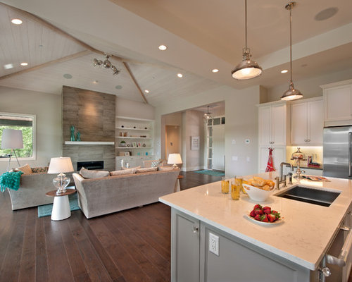 Kitchen Quartz Countertops Houzz
