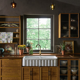 Design ideas for a midcentury kitchen in Other.