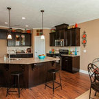 wetbar design with wine cooler by Bay Area residential contractor - Traditional - Kitchen - San ...