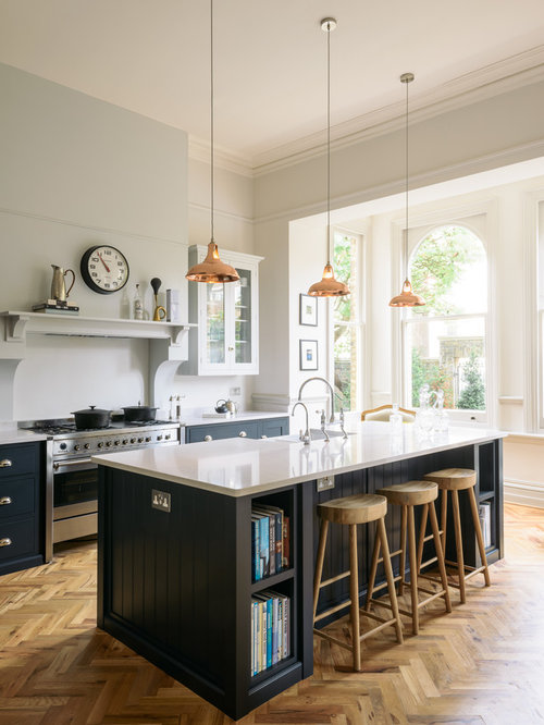 Inspiration For A Large Traditional L Shaped Kitchen/diner In Other With A  Belfast