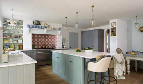 Kitchen Tour: A Stylish Family Kitchen With a Colourful Island