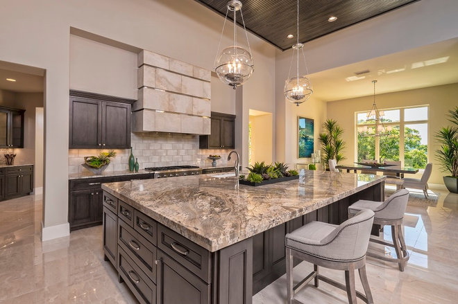 Transitional Kitchen by A-Design By Gustavo Arredondo, Inc.