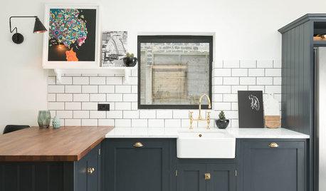 Cool, klassisch und modern zugleich – eine nachtblaue Küche in London