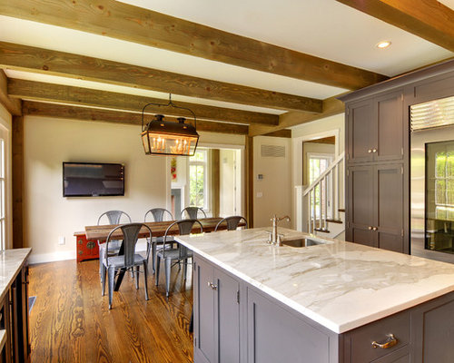 Slate gray cabinets houzz for Slate grey kitchen cabinets