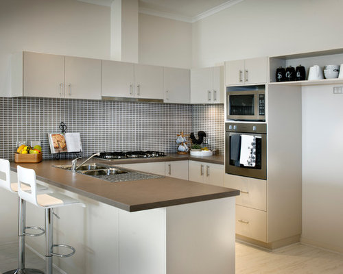 This Is An Example Of A Transitional U Shaped Kitchen In Perth With A Double