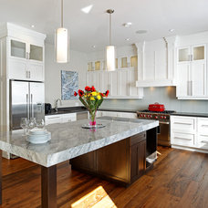 Transitional Kitchen by STONE CUSTOM HOMES