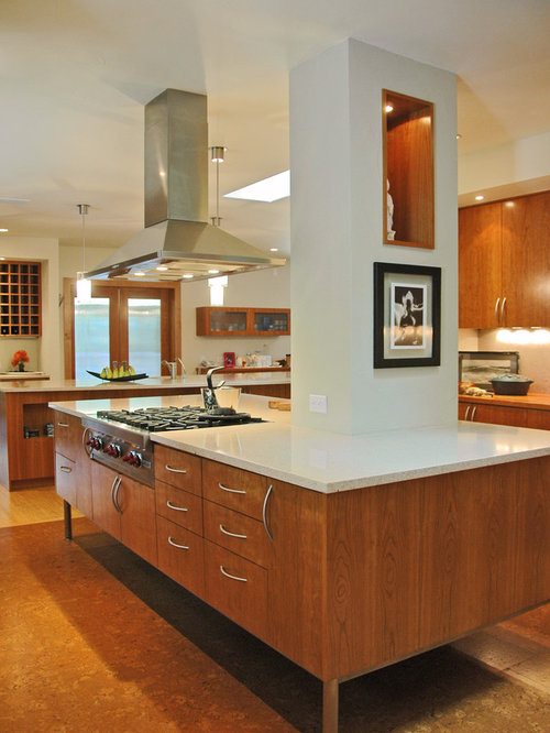 Narrow range hood home design ideas pictures remodel and decor - Contemporary narrow kitchen ...