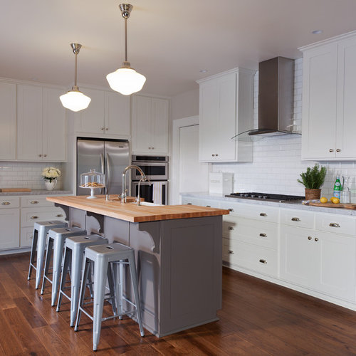 Awesome Houzz Kitchen Islands: Wood Island Countertop
