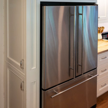 The French Door Refrigerator with custom side pantry.