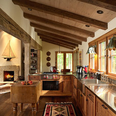 rustic kitchen by Murphy & Co. Design