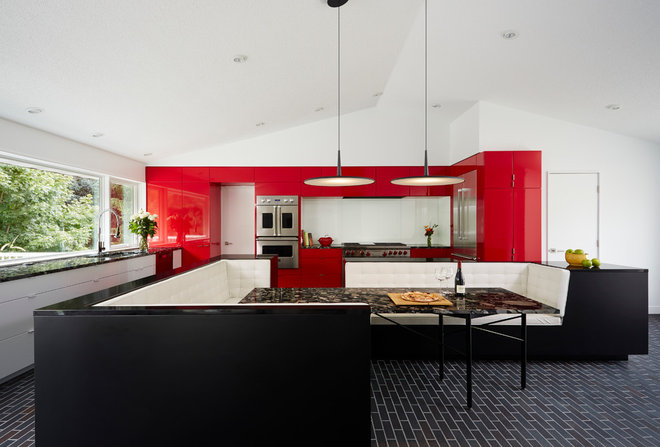 Contemporary Kitchen by CITYDESKSTUDIO, Inc.