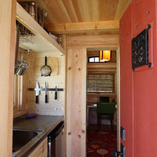 Rustic Kitchen by Tumbleweed Tiny House Company