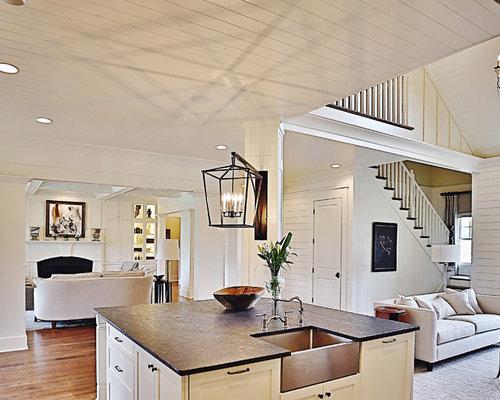 Küchen mit Zink-Arbeitsplatte und Kücheninsel Ideen, Design & Bilder ...
