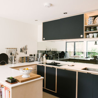 Superior This Is An Example Of A Small Modern U Shaped Kitchen With A Double