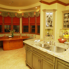 mediterranean kitchen by Elaine Morrison Interiors