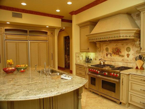 Mediterranean Kitchen by Elaine Morrison Interiors