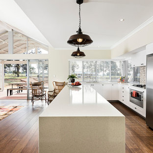 This is an example of a transitional kitchen in Perth.