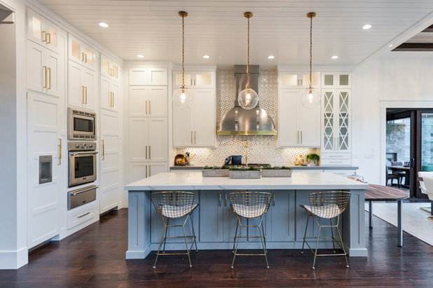 Cool Transitional Kitchen by Raykon Construction
