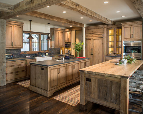 rustic wood countertop houzz. Black Bedroom Furniture Sets. Home Design Ideas