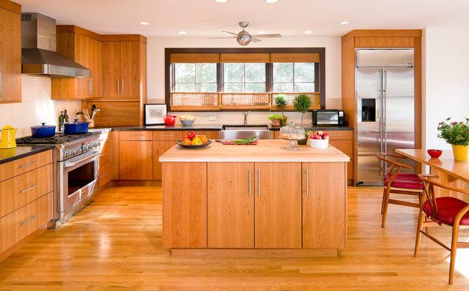 Midcentury Kitchen by Kristen Rivoli Interior Design