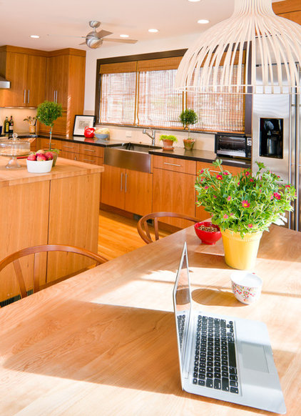 Midcentury Kitchen by Kristen Rivoli Interior Design
