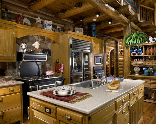 Log Homes Kitchens | Houzz