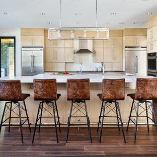 Contemporary Kitchen Remodeling   Kitchen   Contemporary Brown Floor Kitchen  Idea In Portland With An Undermount