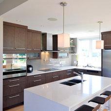 Modern Kitchen by Cedarstone Homes Limited