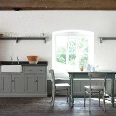Farmhouse Dining Room by deVOL Kitchens