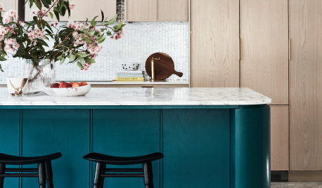 Before & After: An Ocean-Toned Island That Makes a Kitchen Sing