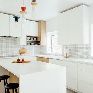 Salt Lake City Clear All Mid Sized Scandinavian Eat In Kitchen Ideas Danish L