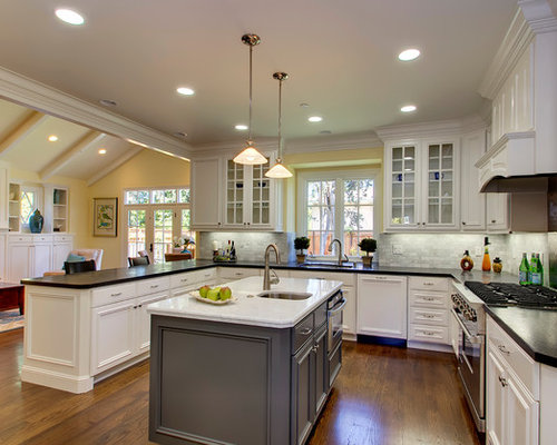 picture of kitchen islands black quartz countertop houzz 4192