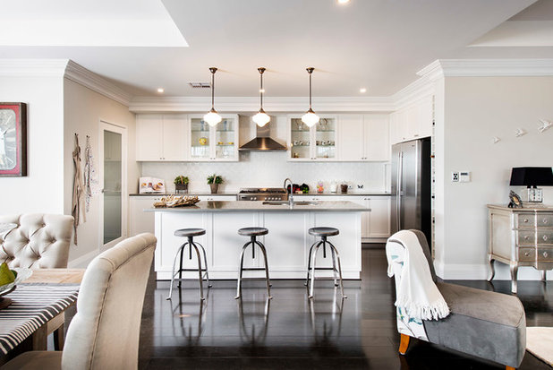 Transitional Kitchen by Plunkett Homes