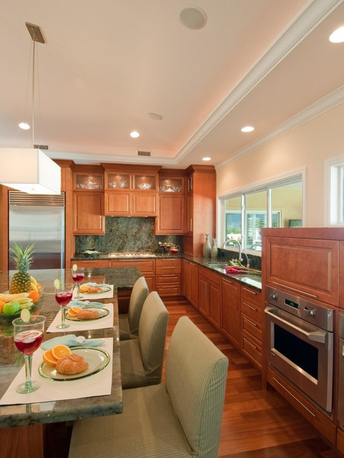 Love your kitchen what color white are the cabinets - Peach color kitchen ...