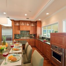 Traditional Kitchen by Archipelago Hawaii Luxury Home Designs
