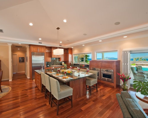 Multicolored wood floor home design ideas pictures for Archipelago hawaii luxury home designs