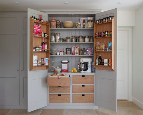 Pantry Design Ideas 1000 images about pantry on pinterest pantry pantry shelving and pantry design Country Kitchen Pantry Photo In South East With Gray Cabinets
