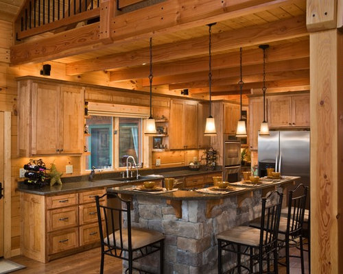 Best Rustic Open Concept Kitchen Design Ideas Amp Remodel Pictures Houzz