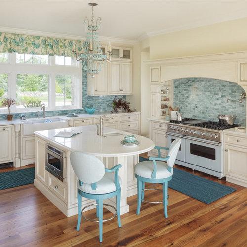 Ideas para cocinas fotos de cocinas costeras con puertas for Suelo waterfront