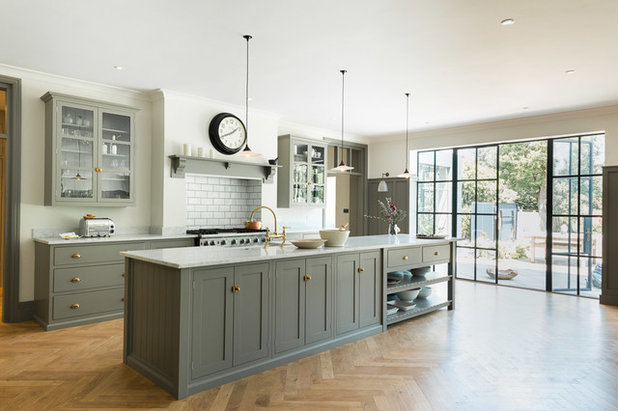 Transitional Kitchen by deVOL Kitchens