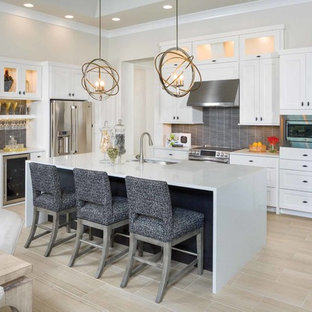 75 Most Por Kitchen with an Island Design Ideas for 2019 ... U Shaped Kitchen With Island Designs Center on galley kitchen with center island, white kitchen with center island, u shaped breakfast nook, kitchen cabinet design with center island, u shaped family room, small kitchen with center island, kitchen layouts with center island,
