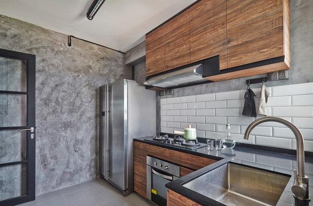 コンテンポラリー キッチン by Fuse Concept Pte Ltd