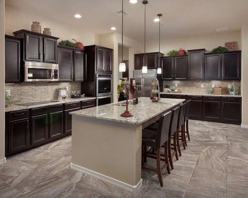 Inspiration For A Timeless L Shaped Kitchen Remodel In Phoenix With Recessed Panel Cabinets