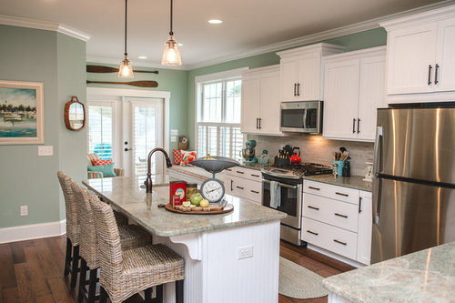 I Like The Countertops. I Am Considering Allen And Roth Titanium Swell