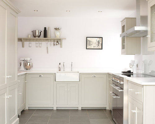 mid sized farmhouse kitchen appliance example of a mid sized country u - Glass Sheet Kitchen Design